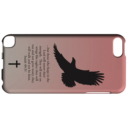 Isaiah 40:31 - Wisp Pink - Geeks Designer Line Bible Series Hard Case for Apple iPod Touch 5