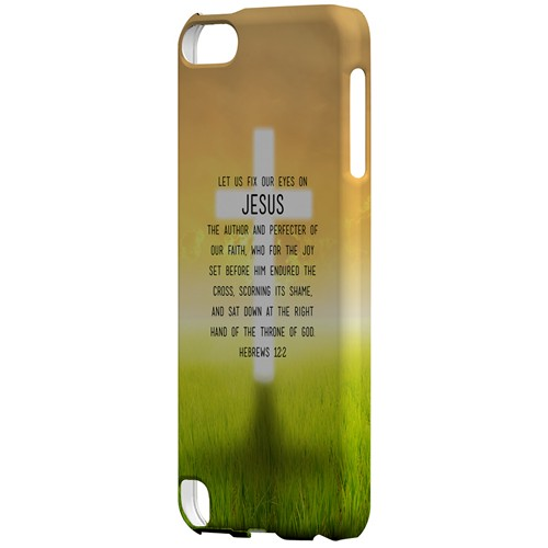 Hebrews 12:2 - Geeks Designer Line Bible Series Hard Case for Apple iPod Touch 5