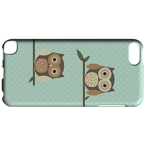 Retro Owls on Polka Dots - Geeks Designer Line Owl Series Hard Case for Apple iPod Touch 5