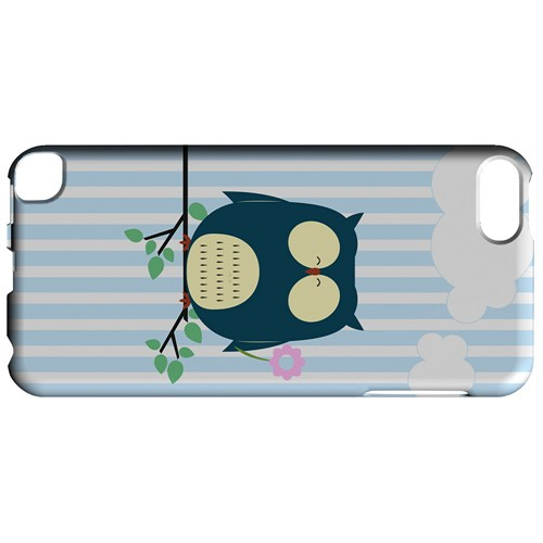 Fat Peaceful Owl on Tree Branch - Geeks Designer Line Owl Series Hard Case for Apple iPod Touch 5