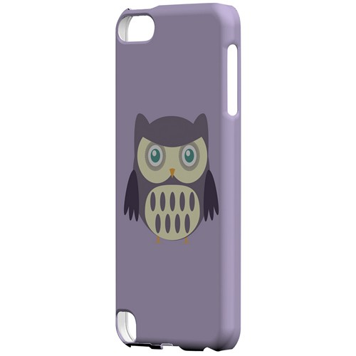 Chubby Purple Owl - Geeks Designer Line Owl Series Hard Case for Apple iPod Touch 5