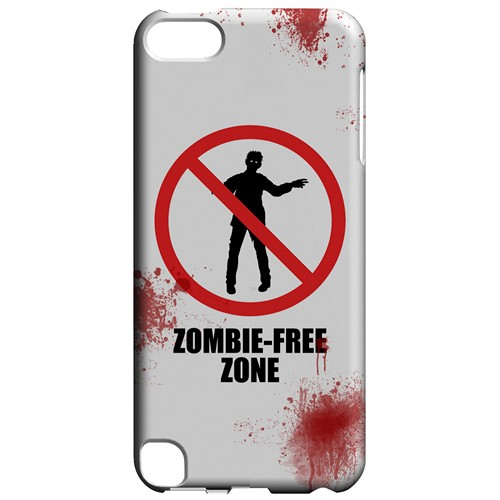 Zombie-Free Zone - Geeks Designer Line Apocalyptic Series Hard Case for Apple iPod Touch 5