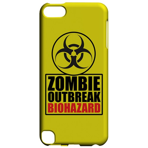 Zombie Outbreak Biohazard - Geeks Designer Line Apocalyptic Series Hard Case for Apple iPod Touch 5