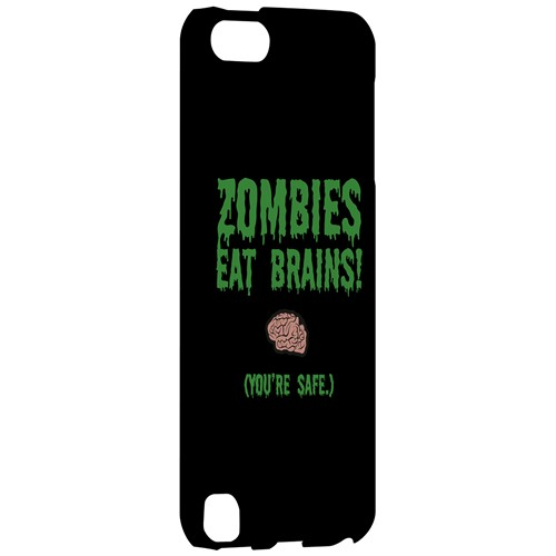 Zombies Eat Brains - Geeks Designer Line Apocalyptic Series Hard Case for Apple iPod Touch 5