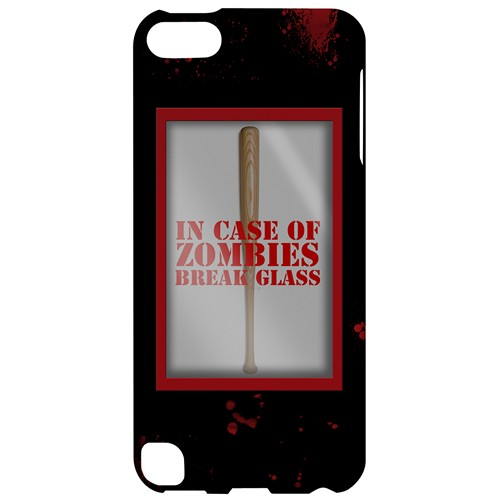 In Case of Zombies Break Glass - Geeks Designer Line Apocalyptic Series Hard Case for Apple iPod Touch 5