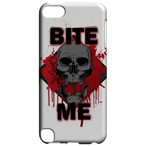 Bite Me on White - Geeks Designer Line Apocalyptic Series Hard Case for Apple iPod Touch 5