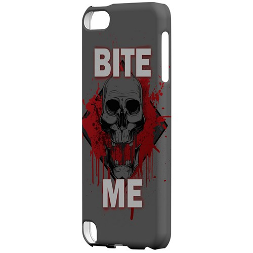 Bite Me on Gray - Geeks Designer Line Apocalyptic Series Hard Case for Apple iPod Touch 5