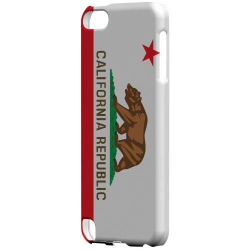 California - Geeks Designer Line Flag Series Hard Back Case for Apple iPod Touch 5
