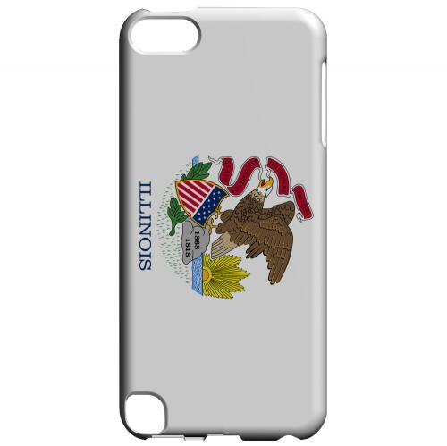 Illinois - Geeks Designer Line Flag Series Hard Back Case for Apple iPod Touch 5