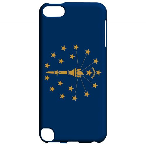 Indiana - Geeks Designer Line Flag Series Hard Back Case for Apple iPod Touch 5