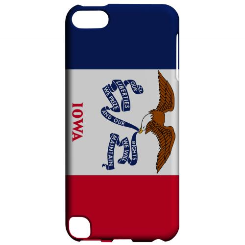 Iowa - Geeks Designer Line Flag Series Hard Back Case for Apple iPod Touch 5