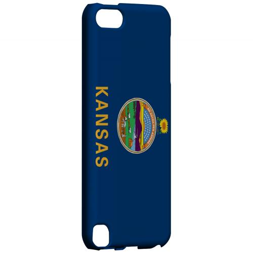 Kansas - Geeks Designer Line Flag Series Hard Back Case for Apple iPod Touch 5
