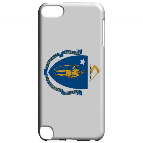 Massachusetts - Geeks Designer Line Flag Series Hard Back Case for Apple iPod Touch 5