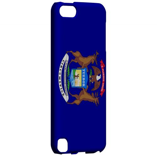 Michigan - Geeks Designer Line Flag Series Hard Back Case for Apple iPod Touch 5