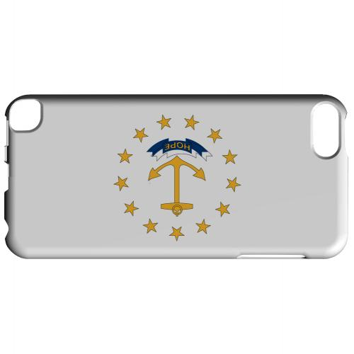 Rhode Island - Geeks Designer Line Flag Series Hard Back Case for Apple iPod Touch 5