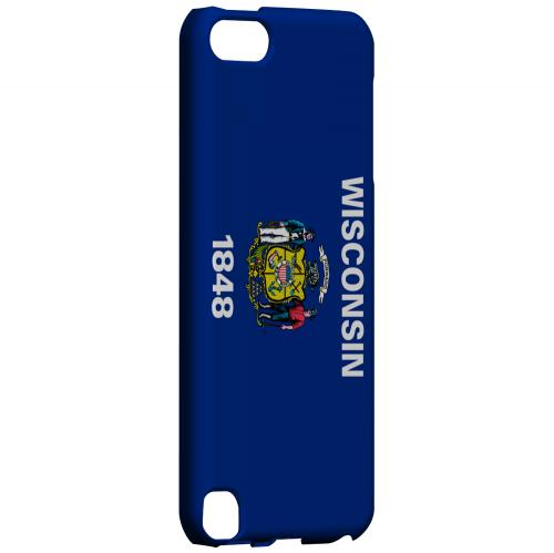 Wisconsin - Geeks Designer Line Flag Series Hard Back Case for Apple iPod Touch 5