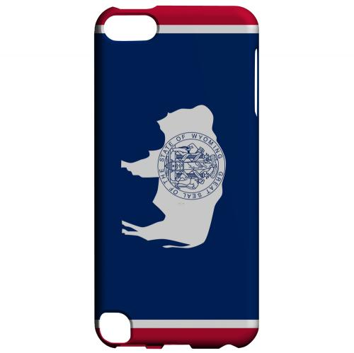 Wyoming - Geeks Designer Line Flag Series Hard Back Case for Apple iPod Touch 5