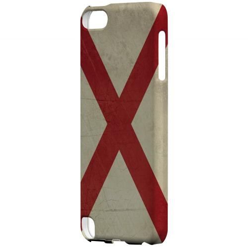 Grunge Alabama - Geeks Designer Line Flag Series Hard Case for Apple iPod Touch 5