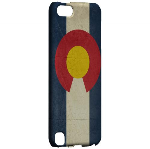 Grunge Colorado - Geeks Designer Line Flag Series Hard Case for Apple iPod Touch 5