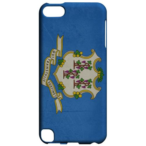 Grunge Connecticut - Geeks Designer Line Flag Series Hard Case for Apple iPod Touch 5