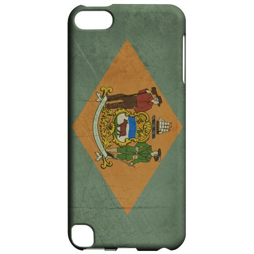 Grunge Delaware - Geeks Designer Line Flag Series Hard Case for Apple iPod Touch 5