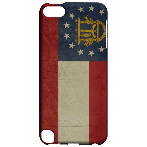 Grunge Georgia - Geeks Designer Line Flag Series Hard Case for Apple iPod Touch 5