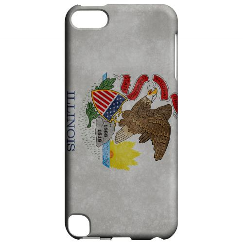 Grunge Illinois - Geeks Designer Line Flag Series Hard Case for Apple iPod Touch 5