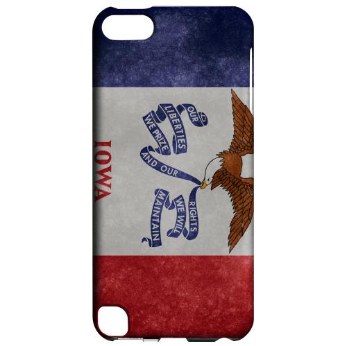 Grunge Iowa - Geeks Designer Line Flag Series Hard Case for Apple iPod Touch 5