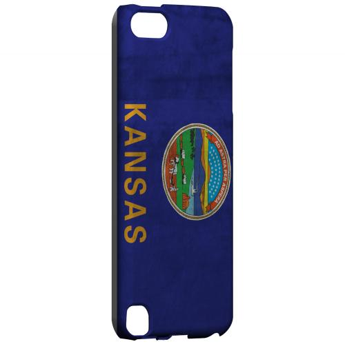 Grunge Kansas - Geeks Designer Line Flag Series Hard Case for Apple iPod Touch 5