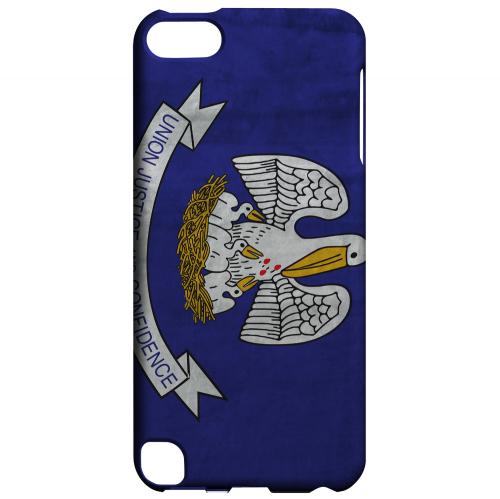 Grunge Louisiana - Geeks Designer Line Flag Series Hard Case for Apple iPod Touch 5