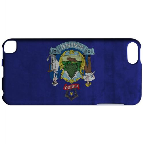 Grunge Maine - Geeks Designer Line Flag Series Hard Case for Apple iPod Touch 5