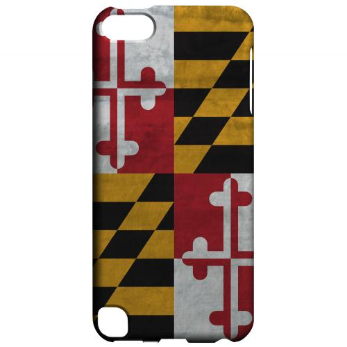 Grunge Maryland - Geeks Designer Line Flag Series Hard Case for Apple iPod Touch 5