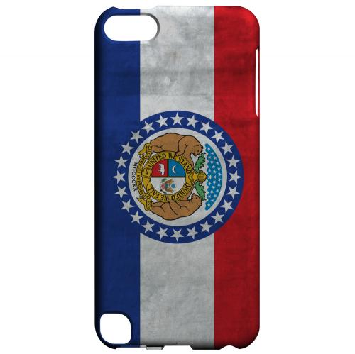 Grunge Missouri - Geeks Designer Line Flag Series Hard Case for Apple iPod Touch 5