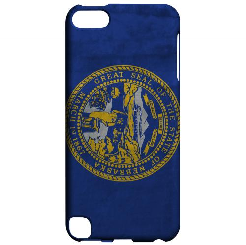 Grunge Nebraska - Geeks Designer Line Flag Series Hard Case for Apple iPod Touch 5