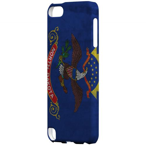 Grunge North Dakota - Geeks Designer Line Flag Series Hard Case for Apple iPod Touch 5