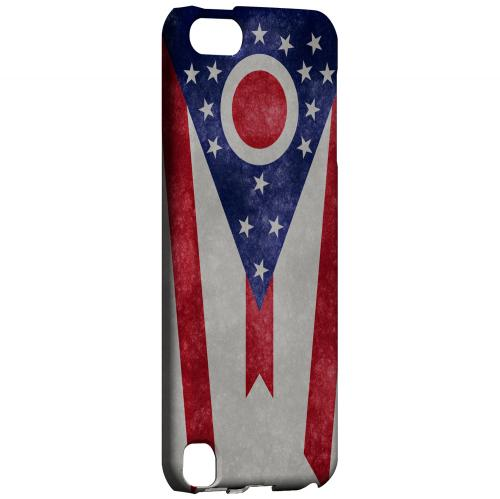 Grunge Ohio - Geeks Designer Line Flag Series Hard Case for Apple iPod Touch 5