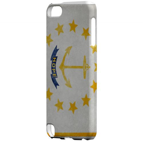 Grunge Rhode Island - Geeks Designer Line Flag Series Hard Case for Apple iPod Touch 5