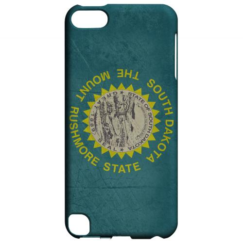 Grunge South Dakota - Geeks Designer Line Flag Series Hard Case for Apple iPod Touch 5