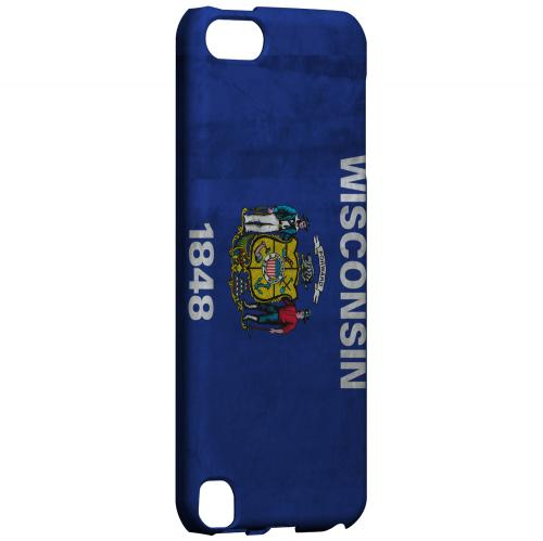 Grunge Wisconsin - Geeks Designer Line Flag Series Hard Case for Apple iPod Touch 5