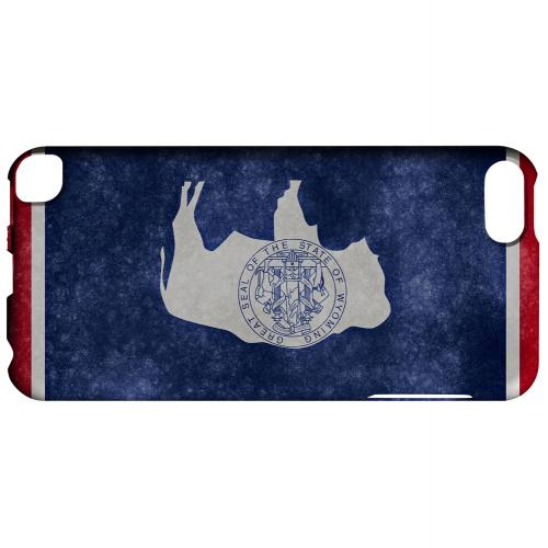 Grunge Wyoming - Geeks Designer Line Flag Series Hard Case for Apple iPod Touch 5
