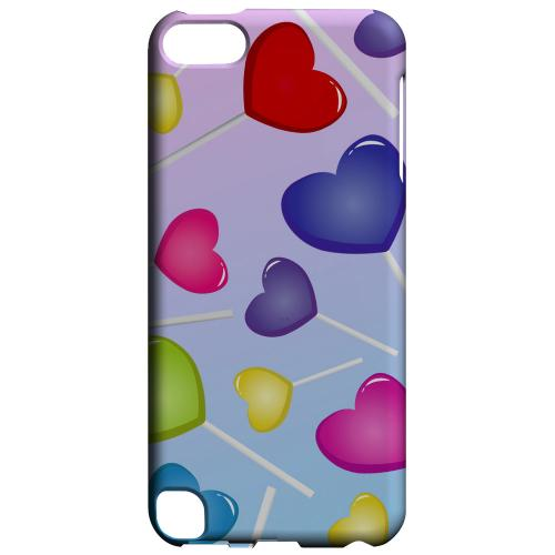 Geeks Designer Line (GDL) Slim Hard Case for Apple iPod Touch 5 - Assorted Heart Lollipops