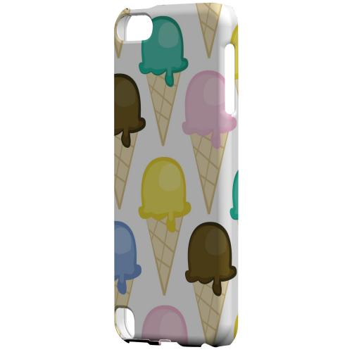Geeks Designer Line (GDL) Slim Hard Case for Apple iPod Touch 5 - Assorted Ice Cream Cones