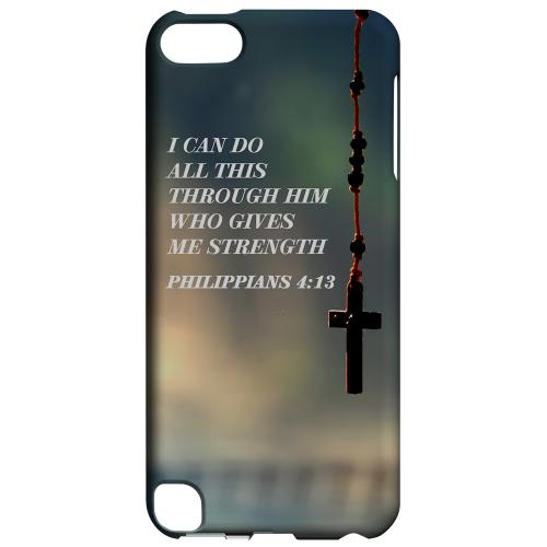 Geeks Designer Line (GDL) Slim Hard Case for Apple iPod Touch 5 - Philippians 4:13