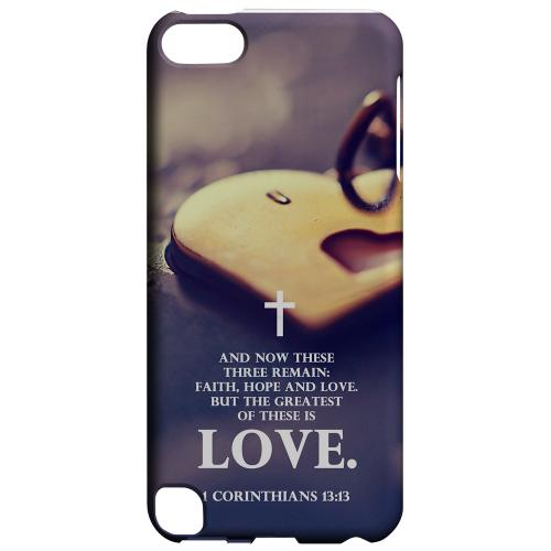 Geeks Designer Line (GDL) Slim Hard Case for Apple iPod Touch 5 - Corinthians 13:13