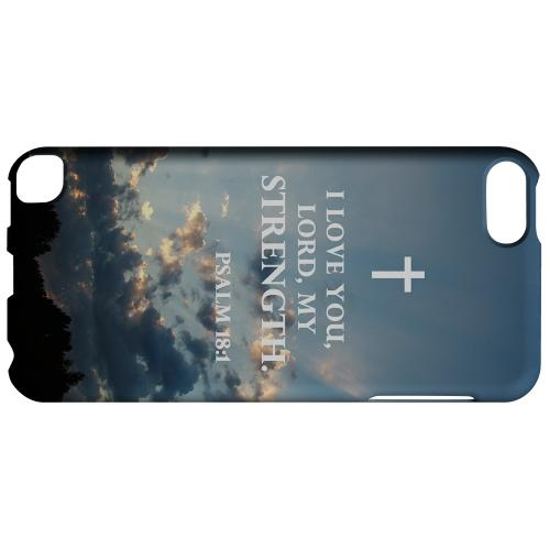 Geeks Designer Line (GDL) Slim Hard Case for Apple iPod Touch 5 - Psalm 18:1