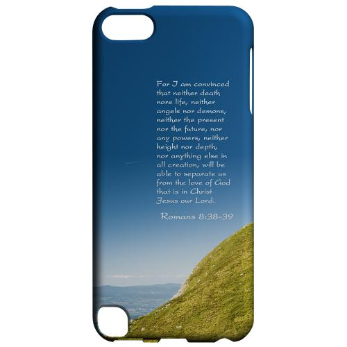 Geeks Designer Line (GDL) Slim Hard Case for Apple iPod Touch 5 - Romans 8:38-39