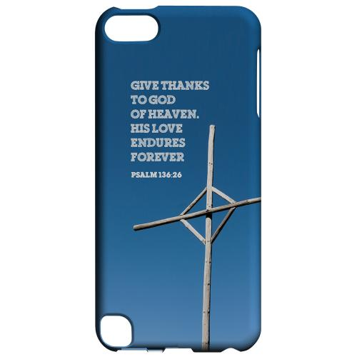 Geeks Designer Line (GDL) Slim Hard Case for Apple iPod Touch 5 - Psalm 136:26