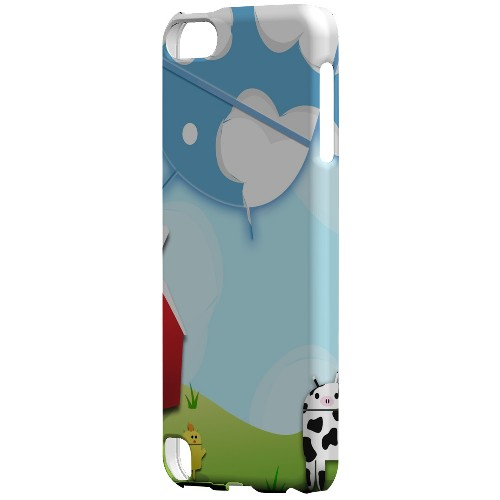 Geeks Designer Line (GDL) Slim Hard Case for Apple iPod Touch 5 - Old McDroidald Had a Farm