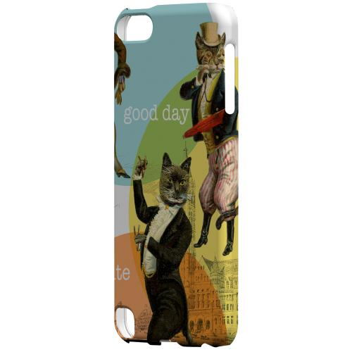 Geeks Designer Line (GDL) Slim Hard Case for Apple iPod Touch 5 - Dandy Kitties