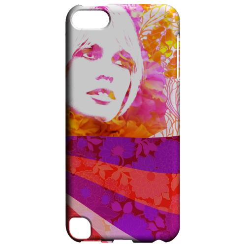Geeks Designer Line (GDL) Slim Hard Case for Apple iPod Touch 5 - Flowerchild